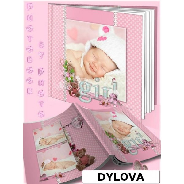 Polka dot Pink Photo Album Baby