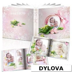 Baby Girl in Memory Photo Album