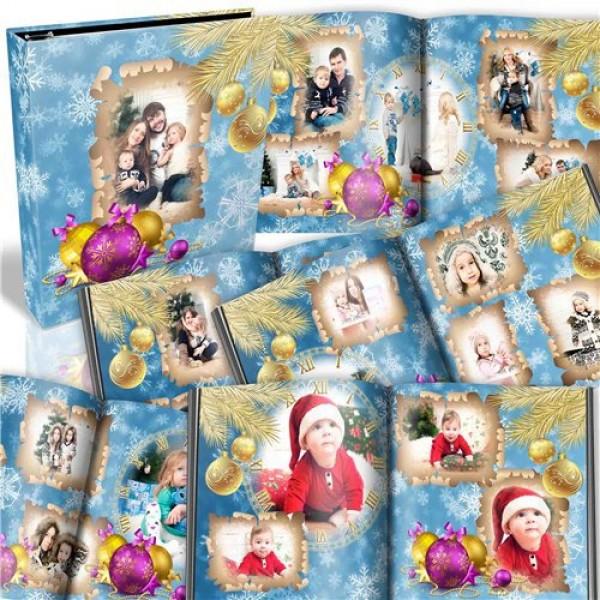 Blue Christmas Family Photo Album