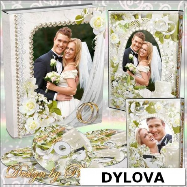 White Flower Wedding Photo Album