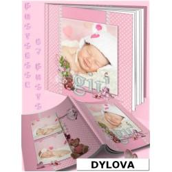 Polka dot Pink Photo Album Baby