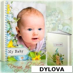 Baby Boy on His Tummy Photo Album