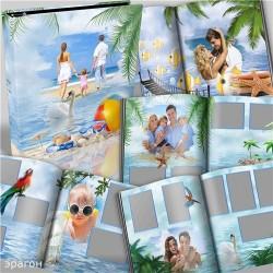 Family In Beach Photo Album