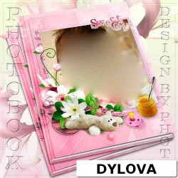 Sweet Girl with Toys Photo Album